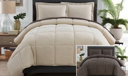 Victoria Classics Lincoln Comforter Set - Taupe/Chocolate - Sz: Full - 7Pc