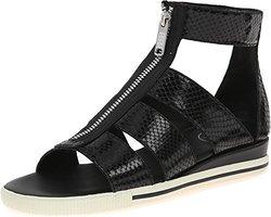 Marc Jacobs Women's Gia Front Zip Sandals - Black - Size: 7