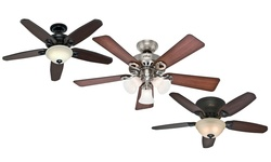 "Classic Hunter 5 Blade: 52"" Brushed Nickel Finish Fan"