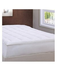 LCM Home Fashions Damask Stripe Pillowtop Mattress Pad