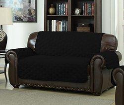 Ashford Furniture Covers: Love Seat/88x71-black/ivory