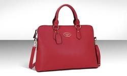 Dasein Slim Briefcase with Removable Shoulder Strap - Red