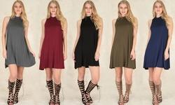Lyss Loo Women's Olivia Tank Shift Dress - Burgundy - Size: Small