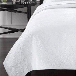 Lamont Simone Coverlet - White - Size: Full/Queen