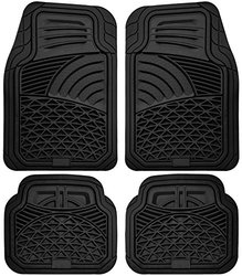 Universal Fit Tactical Heavy Duty Rubber Car Floor Mats: Black (4-piece)