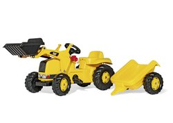 Caterpillar Pedal Tractor with Trailer