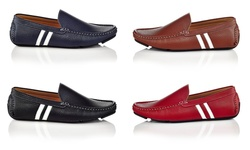 Solo Men's Bruno Slip-on Loafers: Navy - 11