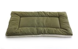 "Pet Dreams 19""x13"" Classic Sleep-eez Reversible Dog Crate Pad - Olive"
