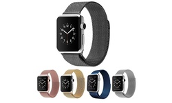 Waloo Stainless Steel Milanese Loop Band for Apple Watch - Blu - Size:42mm
