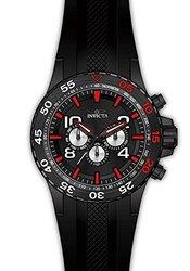 Invicta Men's Aviator Analog Display Swiss Quartz Black Watch