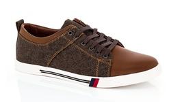 Franco Vanucci Men's Sneakers - Brown - Size: 9.5