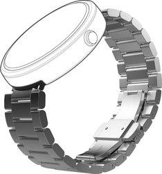 Motorola 23mm Mobility Moto360 Metal Watch Band - Silver