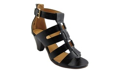 NY VIP Women's Gladiator Sandals - Black - Size:7.5