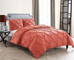 Carmen Duvet 3 Piece Set: Coral/queen