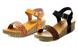 Jacobies Women's Riva Sandals - Camel - Size: 8