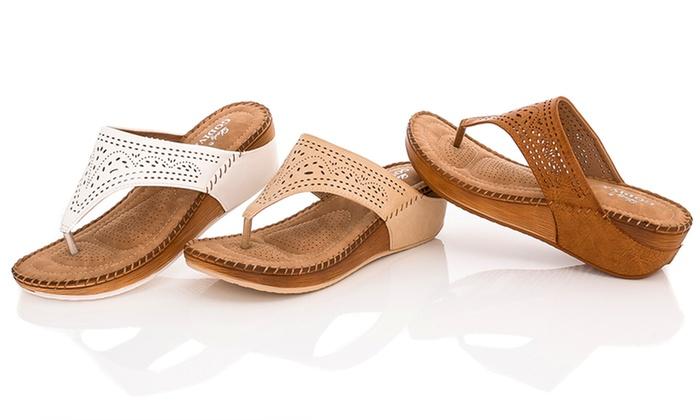 aca36c1641e Lady Godiva Comfort Wedge Sandal - Tan - Size  6.5 - Check Back Soon ...