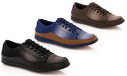Franco Vanucci Lace-up Men's Sneaker Grec-1: Black/12