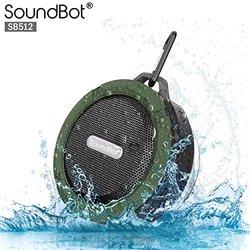 SoundBot HD Water & Shock Resistant Bluetooth Wireless Shower Speaker