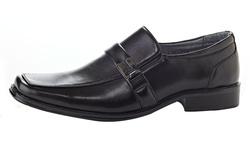 Henry Ferrera Men's Slip on Dress Shoes - Black - Size: 10.5