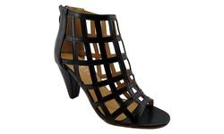 Vip Caged Heeled Sandals: Black/9