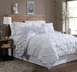 7-Piece Comforter Set: King/Ella-White