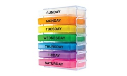 Spectrum Seven-Day Pill Organizer System - Clear/Multi