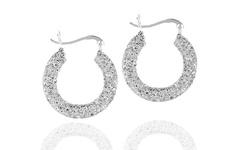 Sterling Silver Hoop Earrings with Swarovski Elements