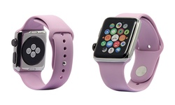 Silicone Sport Apple Watch Replacement Band: 38mm - Lavender