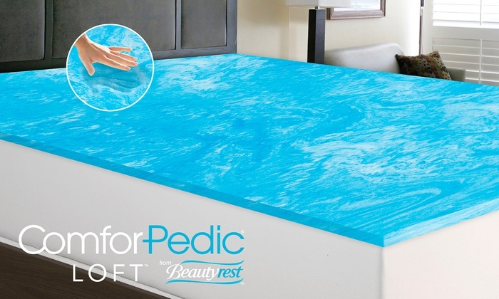 Cool Gel Memory Foam Mattress Topper Advanced Sleep Solutions ...  ComforPedic Loft 1 - Cooling Gel Mattress Pad DesignerStyle