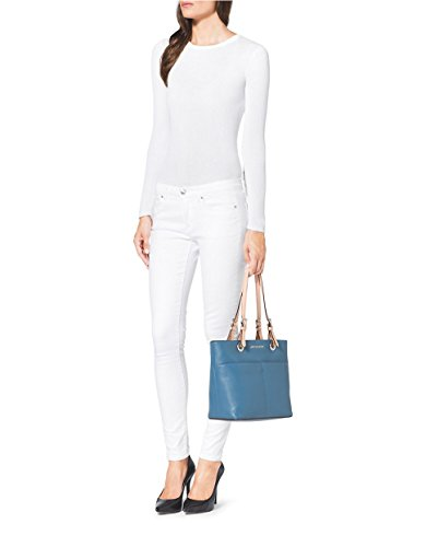 aa0c5271018a77 Michael Kors Bedford Leather Pocket Tote - Sky Blue - Check Back ...