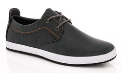 Franco Vanucci Lace-up Men's Sneakers - Gray - Size: 12