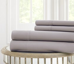 Fine Linens 600tc 100% Egyptian Cotton 4 Piece Sheet Set: Platinum/K