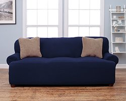 Home Fashion Designs Savannah Collection Strapless Slipcover Sofa - Blue