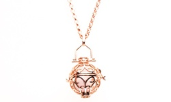 Izzybell Jewelry Essential Oil Diffuser Necklace - Rose Gold