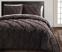 CARMEN 3PC DUVET SET Queen - Brown
