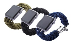 iPM 42mm Weave Band with Stainless Steel Clasp for Apple Watch - Black