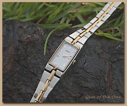 Seiko Women's Two Tone White Bracelet Watch Szzc40