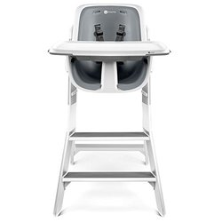 High Chair 4moms Wht Gry Solid