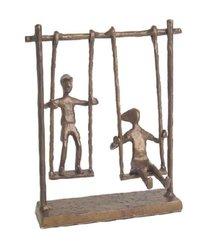Danya B Children On Swings Bronze Figure 7.75-Inch