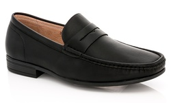 Franco Vanucci Men's Slip-on Dress Shoes - Black Pu - Size: 13