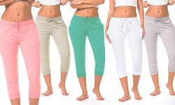 Women's Solid Joggers - Coral/Grey/White/Oatmeal/Green - Size: XL (5 Pack)