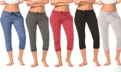 Coco Limon Women's Solid Joggers - 5-Pack - Assorted - Size: Medium