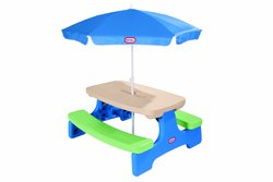 Little Tikes Easy Store Picnic Table with Umbrella (629952M)