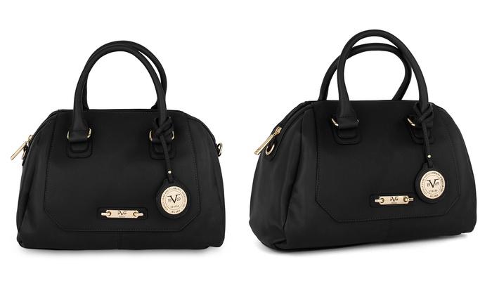 Versace V1969 Italia Women s Emilie Satchel Handbag - Black - 7f6eb9b77f937