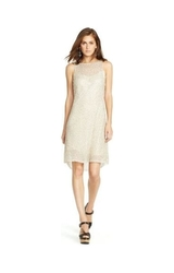 Ralph Lauren Polo Beaded Tulle Sleeveless Dress - Cream White - Size: 12