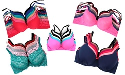 Unique Styles Women's Mystery Assorted Bras 6 Pack - Size: 34B