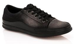 Franco Vanucci Men's Grec-1 Lace-up Sneakers - Black - Size: 11.5