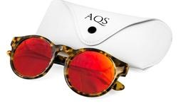 AQS Unisex Benni Acetate Sunglasses - Tortoiseshell/Red