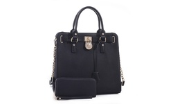 MkII Nikki Satchel Handbag and Wallet Set - Black