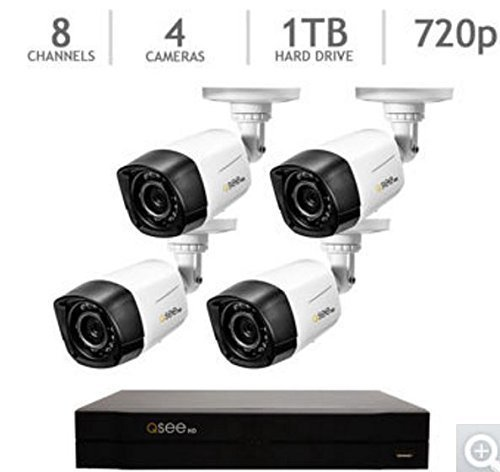 Q See 1080p 8 Channel Dvr W 4 Hd Cameras Security System